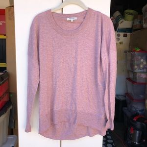 Madewell High Low Crew Neck Sweater
